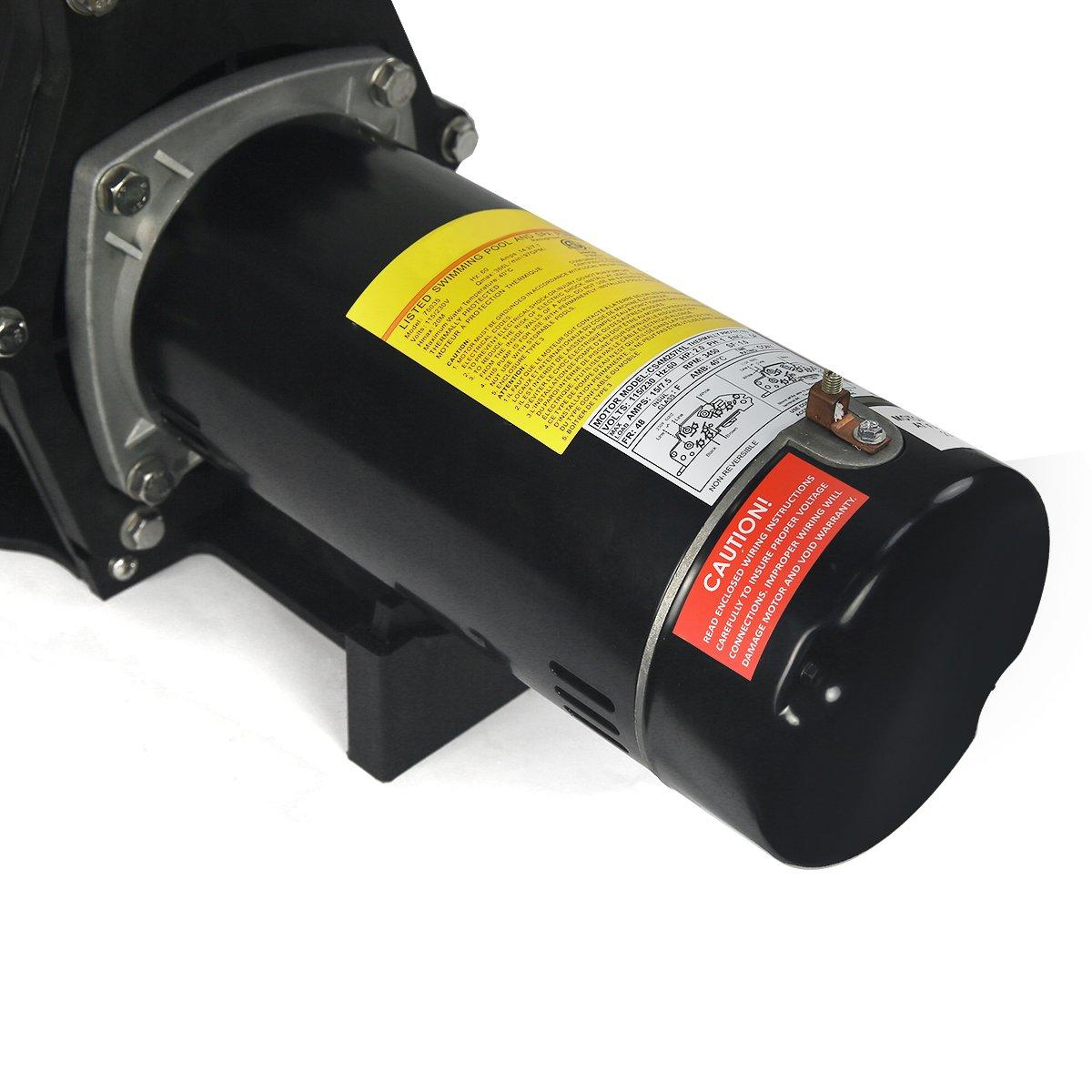 2hp Inground Pool Pump 220 110 Dual Volt 1 Phase Wiring Water Garden Outdoor