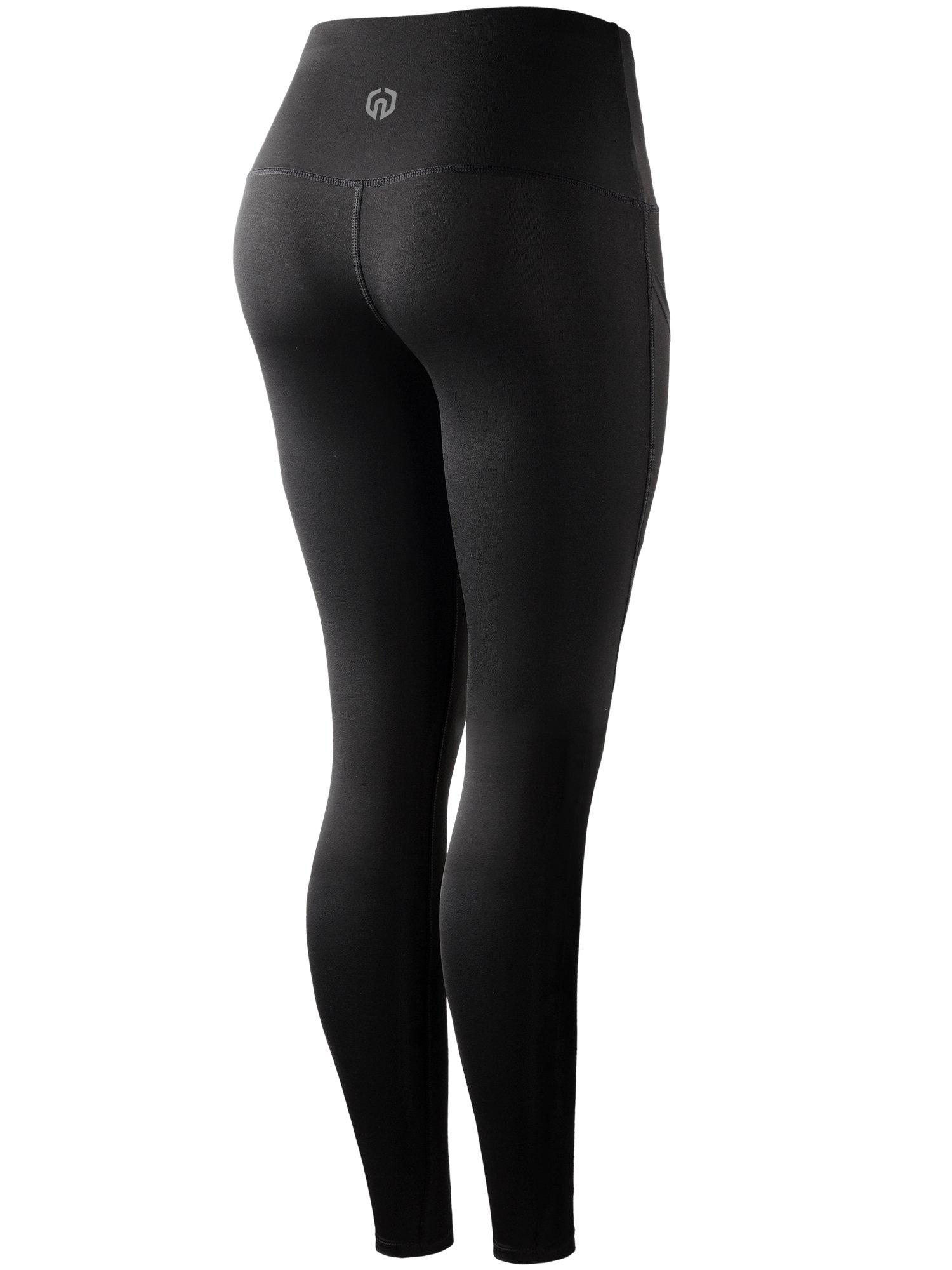 Neleus Tummy Control High Waist Running Workout Leggings,9017,One Piece,Black,S,EU M by Neleus (Image #2)