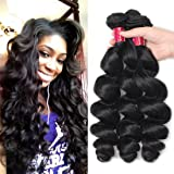 Allove Hair 8A Ombre Brazilian Loose Wave 4 Bundles Virgin Remy Human Hair Weave 1b/4/27 Ombre 3 Tone Color Human Hair Extensions
