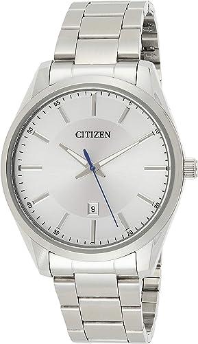 Amazon Com Citizen Men S Quartz Stainless Steel Watch With Date Bi1030 53a Citizen Watches