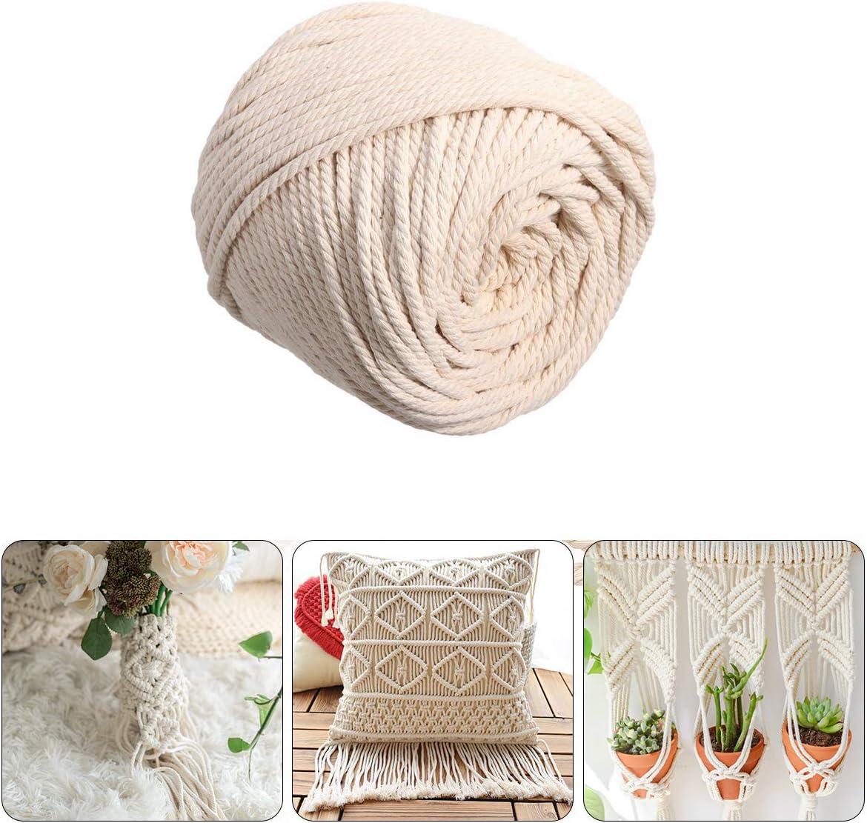 Cordón de algodón natural hecho a mano de 5 mm, macramé para ...