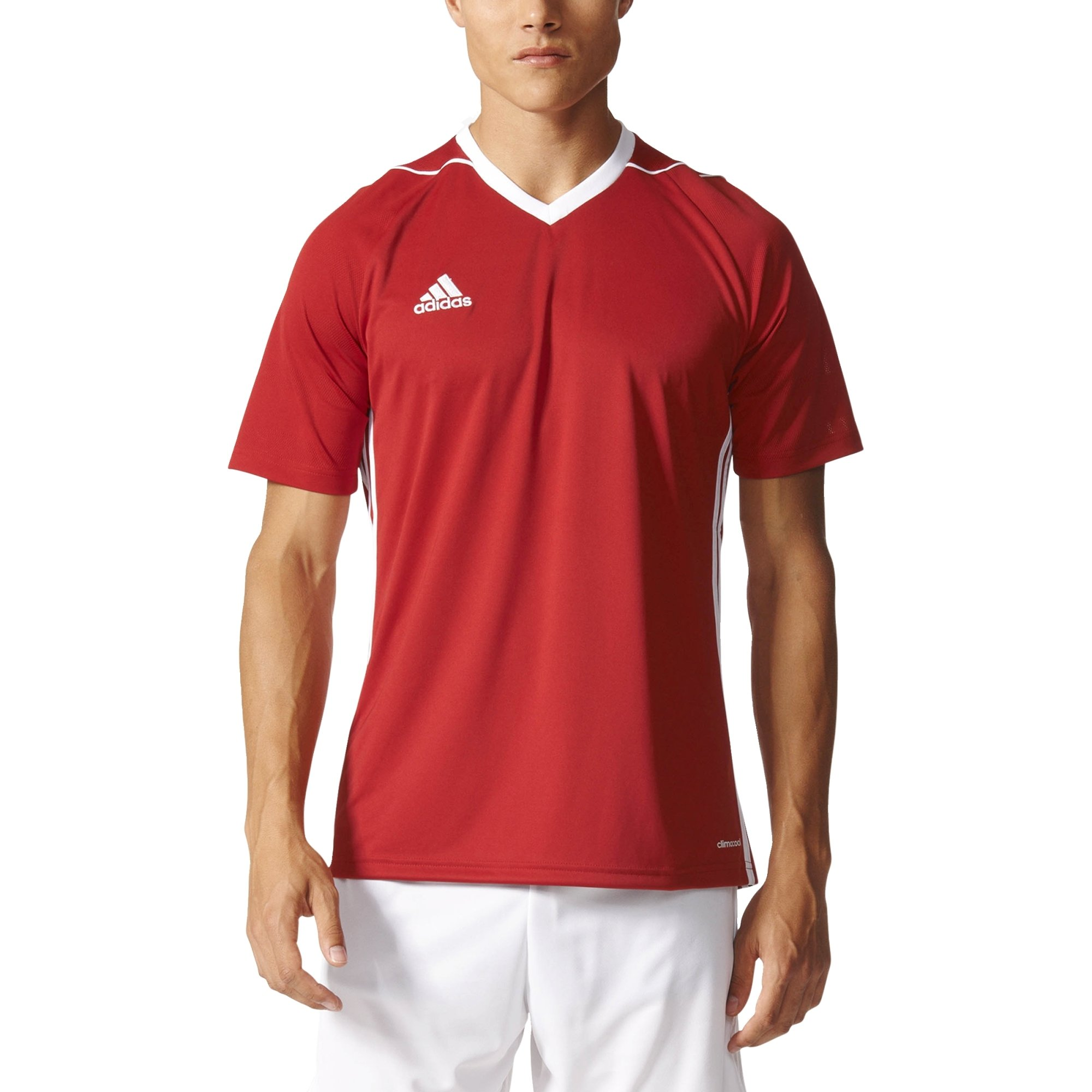 adidas Tiro 17 Mens Soccer Jersey M Power Red-White by adidas