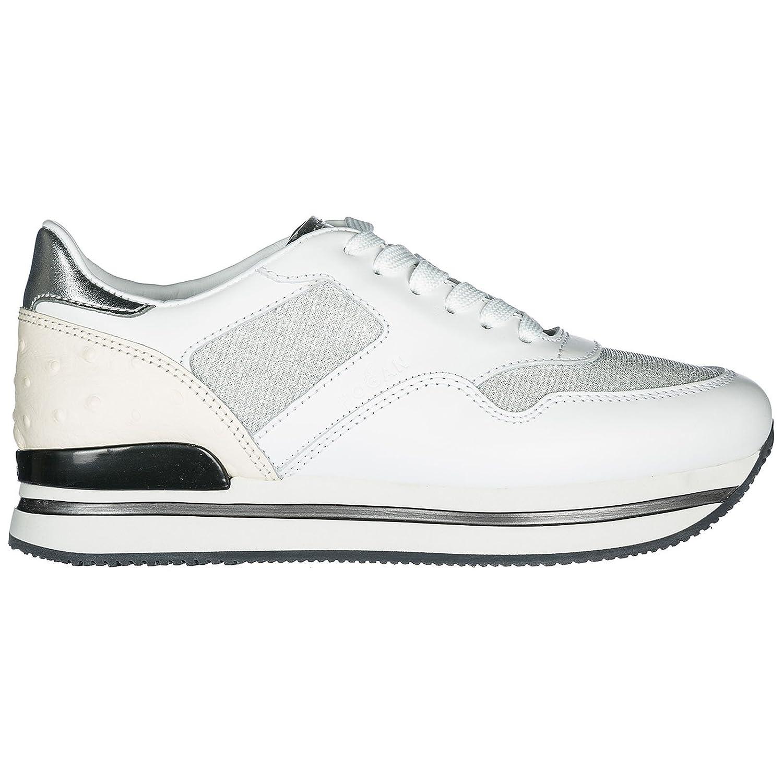 Hogan Zapatos Zapatillas de Deporte Mujer en Piel H222 Blanco 38.5 EU