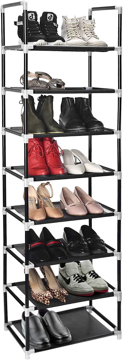 Shoe Rack Holds 16 Pairs Stacks can Separate into Blocks Storage Organiser