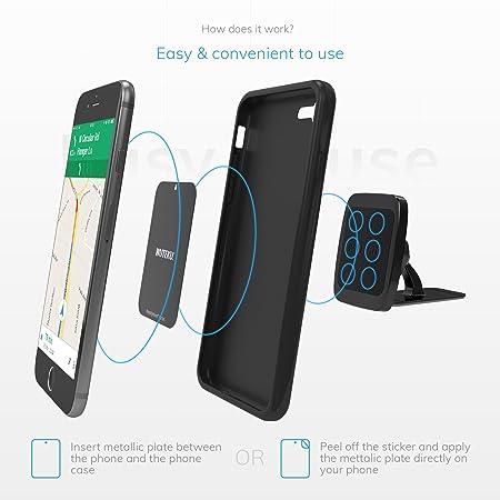 Kit de soporte magnético para teléfono celular para automóvil WUTEKU | Funciona en todos los vehículos, teléfonos y tabletas | El mejor soporte de ...