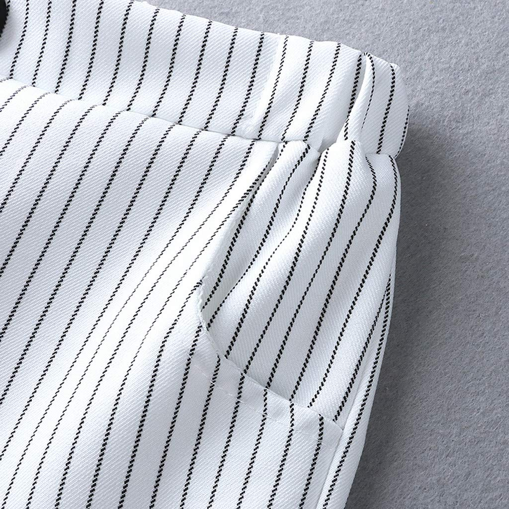 Jungen Kurzarm Fliege Shirts Shorts T-Shirts kinderkleidung f/ür Jungen Outfit 0-3 Jahre Striped Print Weste wuayi  Baby Jungen Gentleman Kleidung Sommer