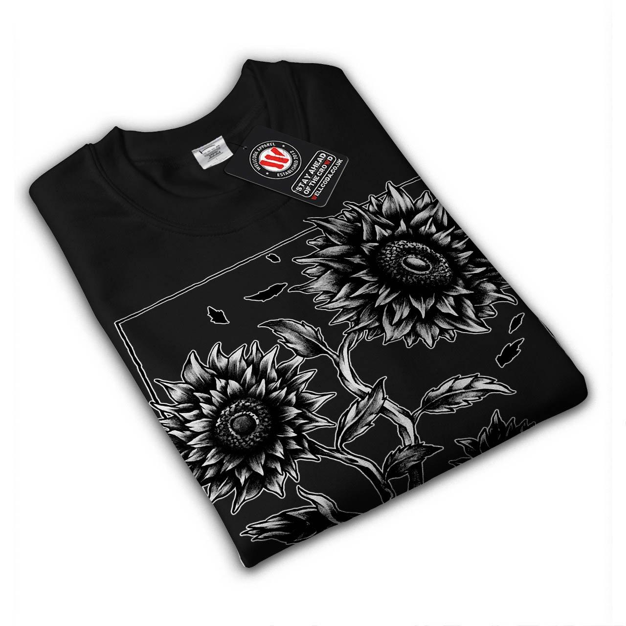 Helianthus Top Pullover Jumper Wellcoda Sunflower Mens Sweatshirt