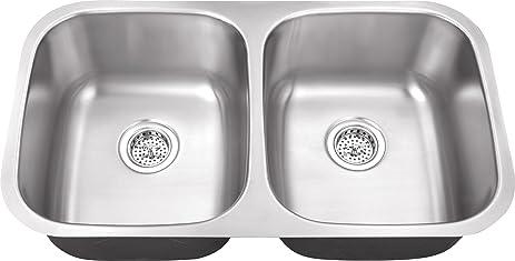 schon sc505018 undermount 18 gauge 50 50 sink 32 1 4 inch schon sc505018 undermount 18 gauge 50 50 sink 32 1 4 inch by 18 1      rh   amazon com