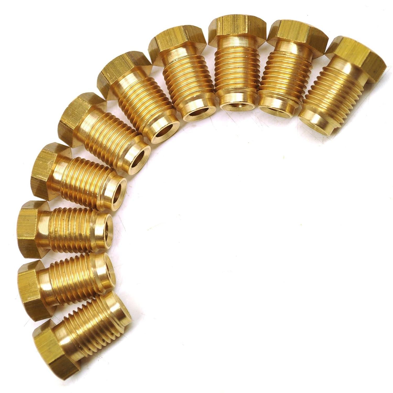 AB Tools-Automec Los racores del Tubo de Freno de lat/ón de 7//16 x 20 UNF Macho 10 Pack para Tubo 3//16 FL18