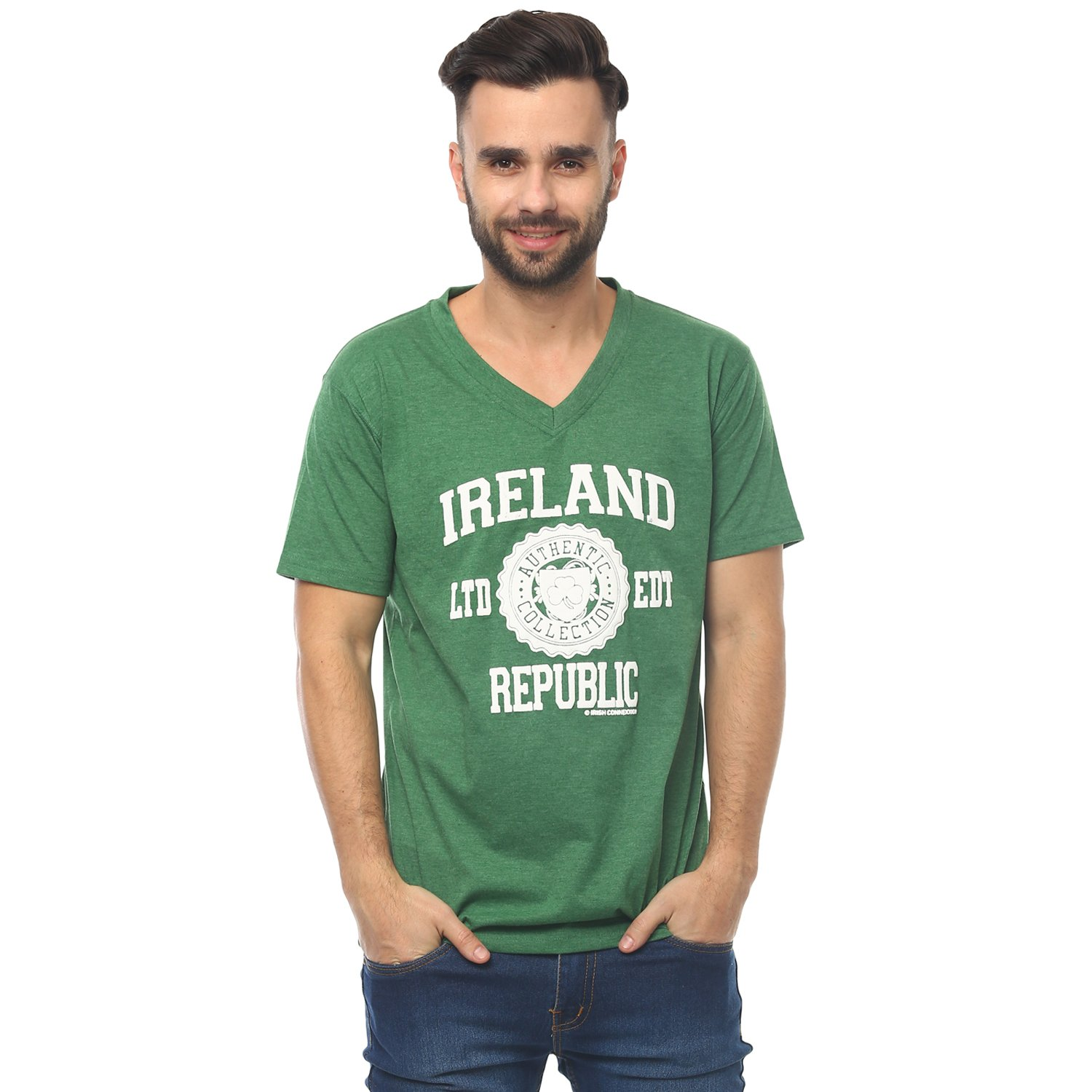 T-Shirt With Ireland Republic Est. 1916 Varsity Shield, Green Colour