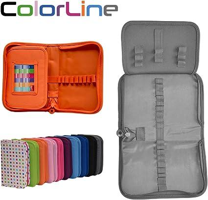 Colorline 58211 - Estuche Portatodo Classic con 28 Apartados de Goma Elástica para Colocar Individualmente los Útiles Escolares. Color Gris, Medidas 14 x 21.5 x 3.6 cm: Amazon.es: Oficina y papelería