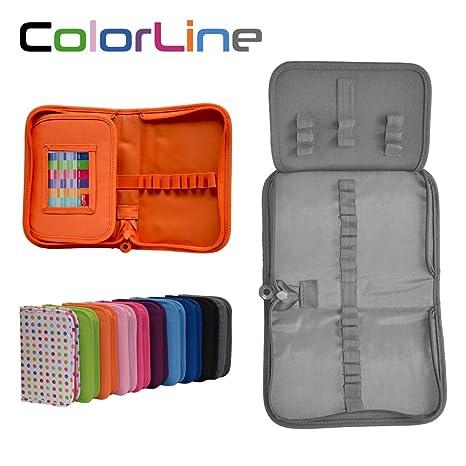 Colorline 58211 - Estuche Portatodo Classic con 28 Apartados de Goma Elástica para Colocar Individualmente los Útiles Escolares. Color Gris, Medidas ...