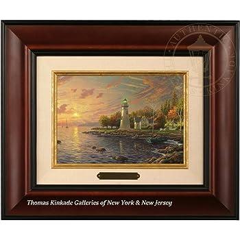Amazon Thomas Kinkade Sunrise Brushwork Brandy Frame Posters