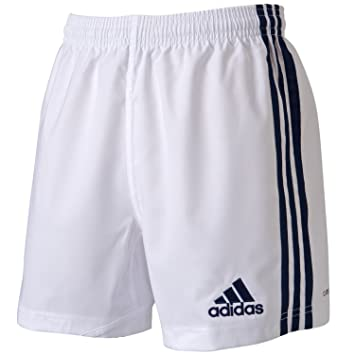 adidas Short de Rugby Enfant 3 Stripes SHO Y Training Blanc  Amazon ... bb22b0c5925