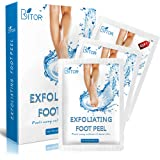 Foot Peel Mask(2 pair) with a Gift(1 pair of Moisturizing Foot Mask), Exfoliating Dead Skin Remover by BRITOR