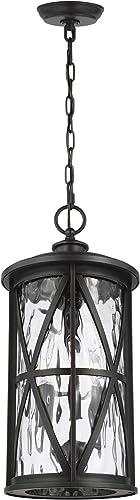 Feiss OL15209ANBZ Millbrooke StoneStrong Outdoor Pendant Ceiling Lighting, 3-Light 180 Watts 21 H x 10 W , Antique Bronze