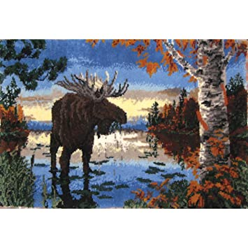 Awesome MCG Textiles 37659 Autumn Moose Latch Hook Rug Kit