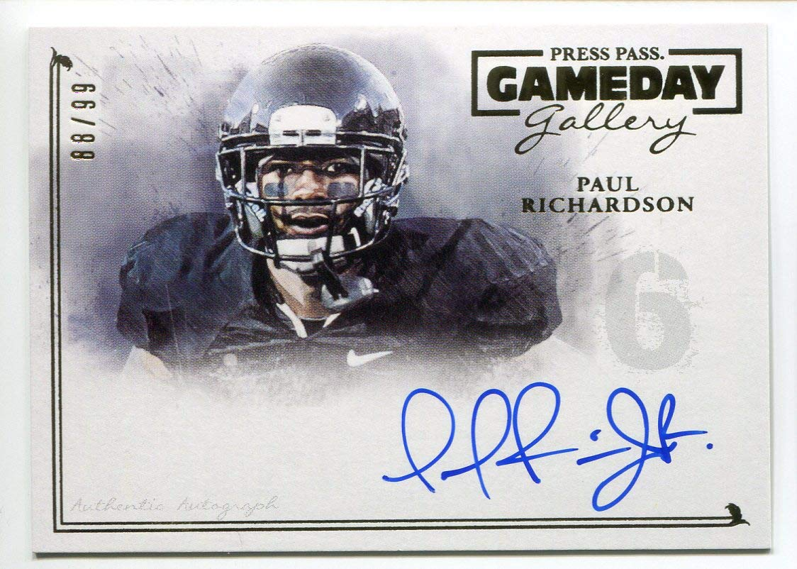 7e83e369a Paul Richardson 2014 Press Pass Gameday Gallery Auto RC NM-MT Rookie  Football Trading Card Green Bay Packers  88 99 Washington Redskins at  Amazon s Sports ...