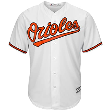 40a18543f Majestic Baltimore Orioles Cool Base Home Tackle Twill Baseball Jersey  (Small)
