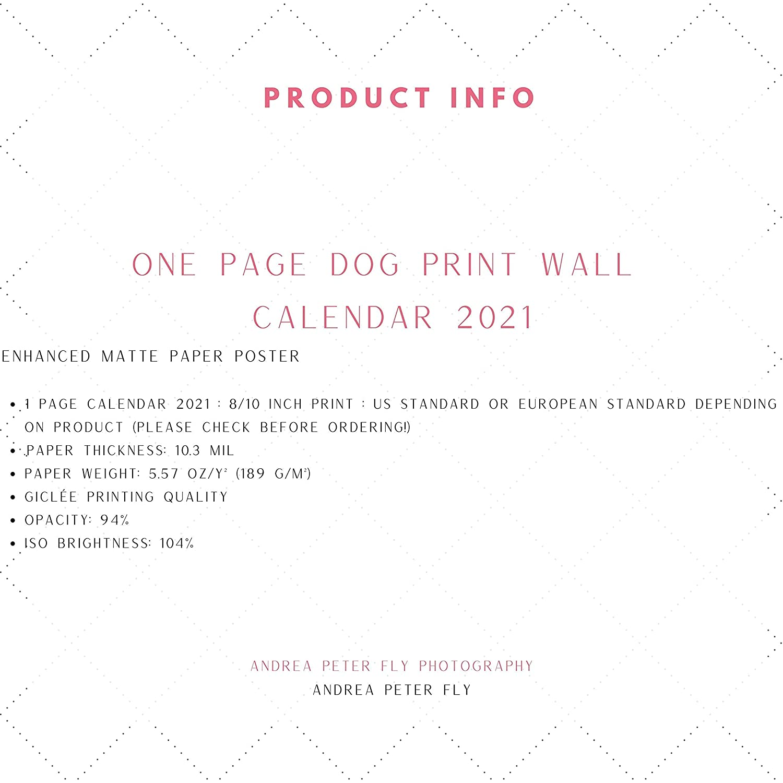 Black And White Calendar Poster German Shepherd Dog Wall Calendar 2021 One Page Year Calendar 2021
