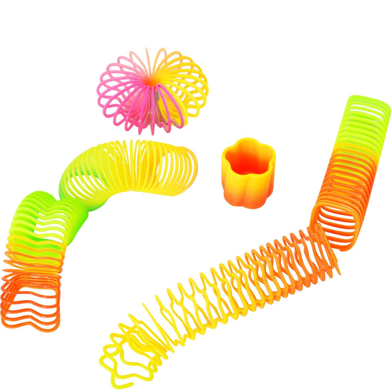 Willbond Mini Rainbow Spring Toy pour Amusement et Fournitures de Fête, Couleurs Assorties, 6 Formes, 30 Pièces