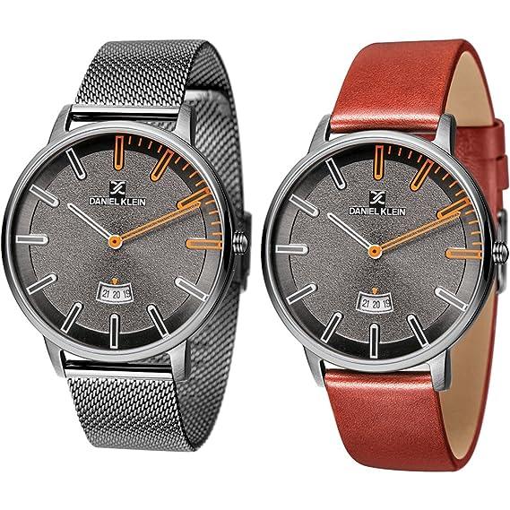 Daniel Klein - Set de reloj de pulsera para hombre, de malla, DK11289-7: Amazon.es: Relojes