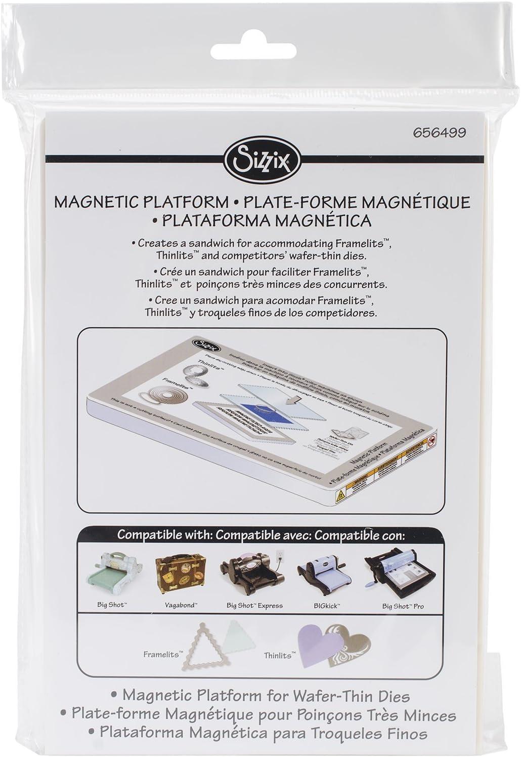 Sizzix 656499  BIGkick//Big Shot//Vagabond Magnetic Platform 6.125 by 8.875 by