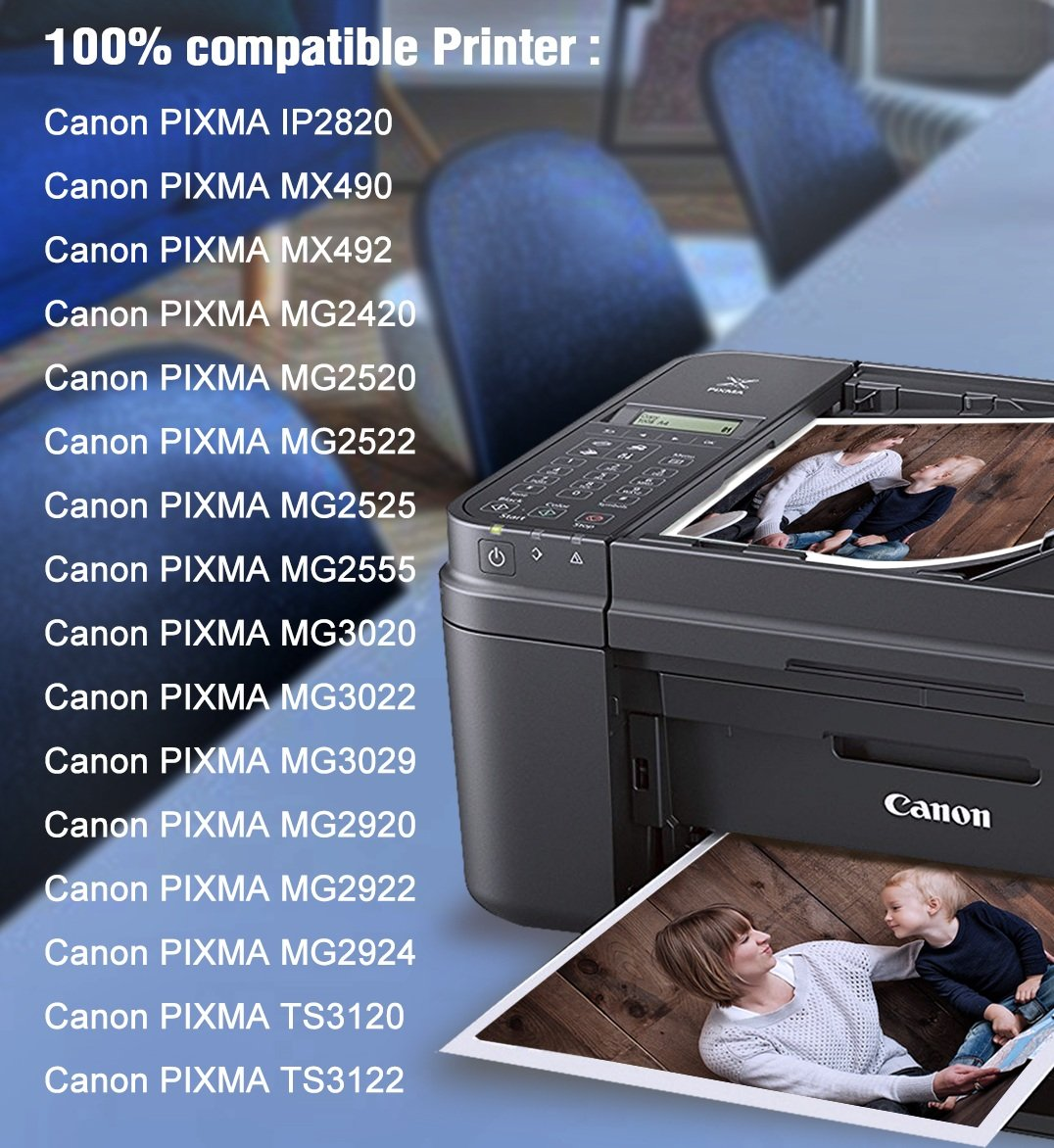 MYTONER Re-Manufactured Ink Cartridge Replacement for Canon PG-245XL  CL-246XL PG-243 CL-244 (1 Black, 1 Tri-Color) for Canon Pixma MX492 MX490  MG2420