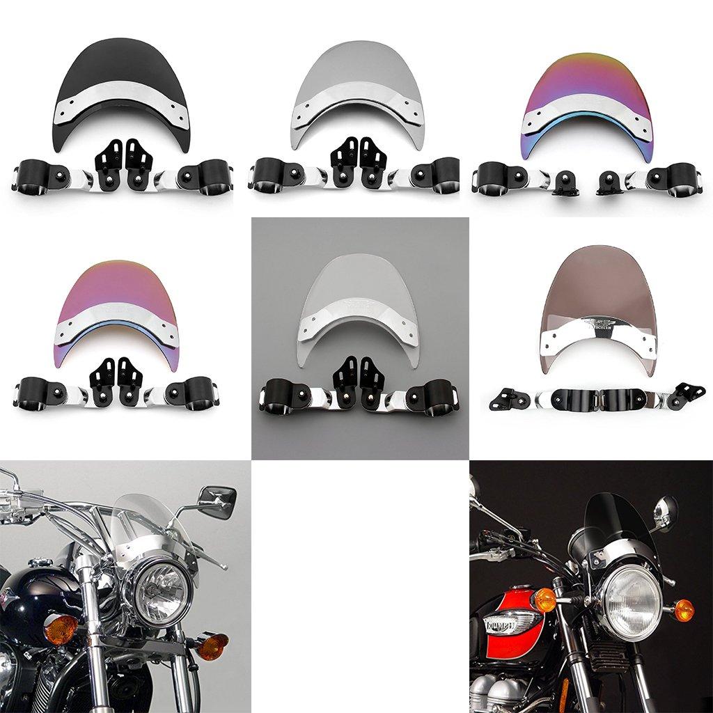 6 Color parabrisas parabrisas para Harley Dyna Softail Sportster 883 1200: Amazon.es: Coche y moto
