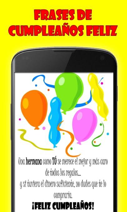 Amazon.com: Frases de Feliz Cumpleaños: Appstore for Android