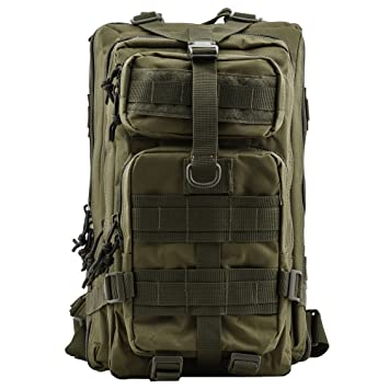Military Tactical Rucksack, TOPQSC Waterproof backpack 600D Oxford ...