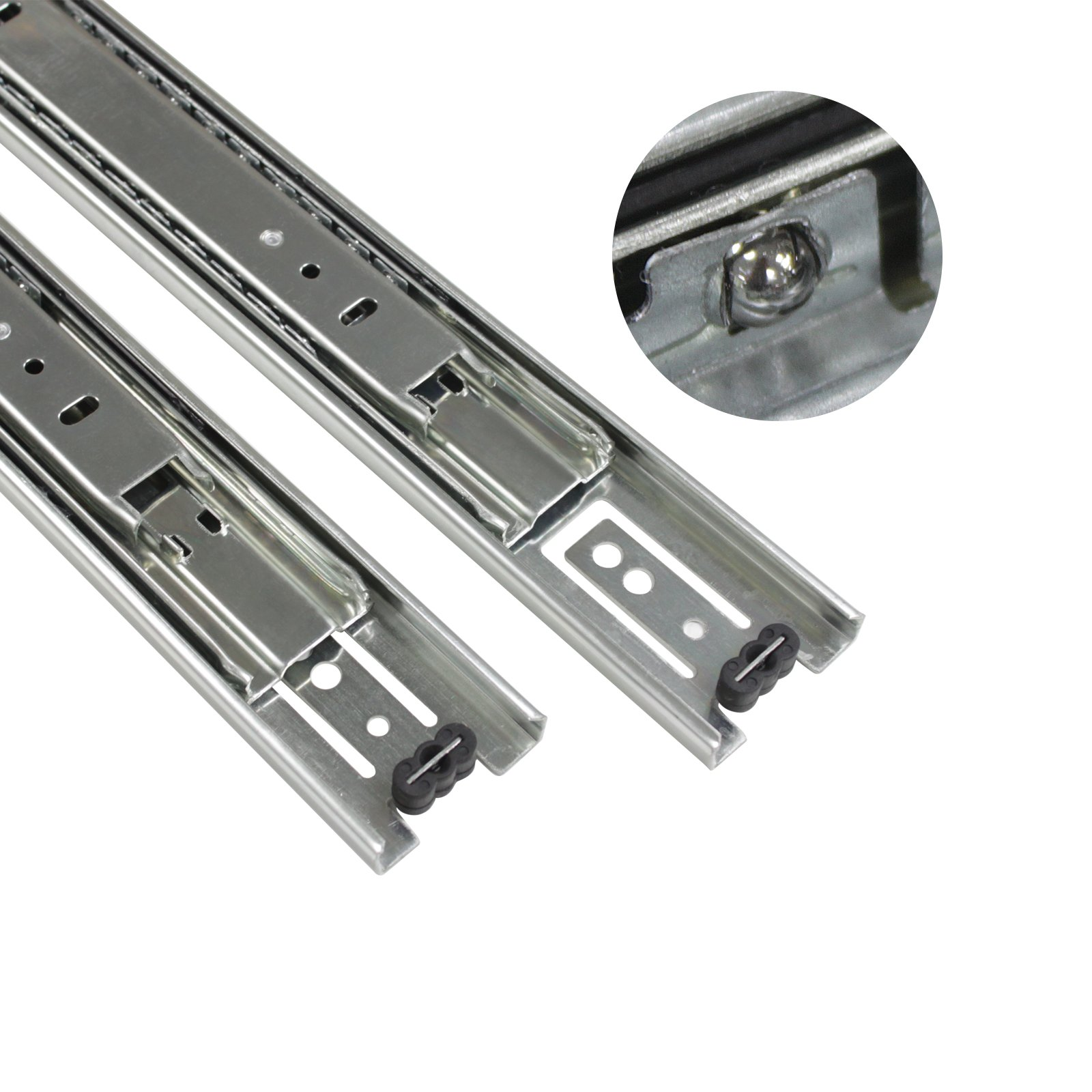 2 Pairs 22 inch Full Extension Side Mount Drawer Slides 3-Folds Ball Bearing Heavy Duty 100 lb Thickness:1.01.01.2mm by Probrico (Image #3)