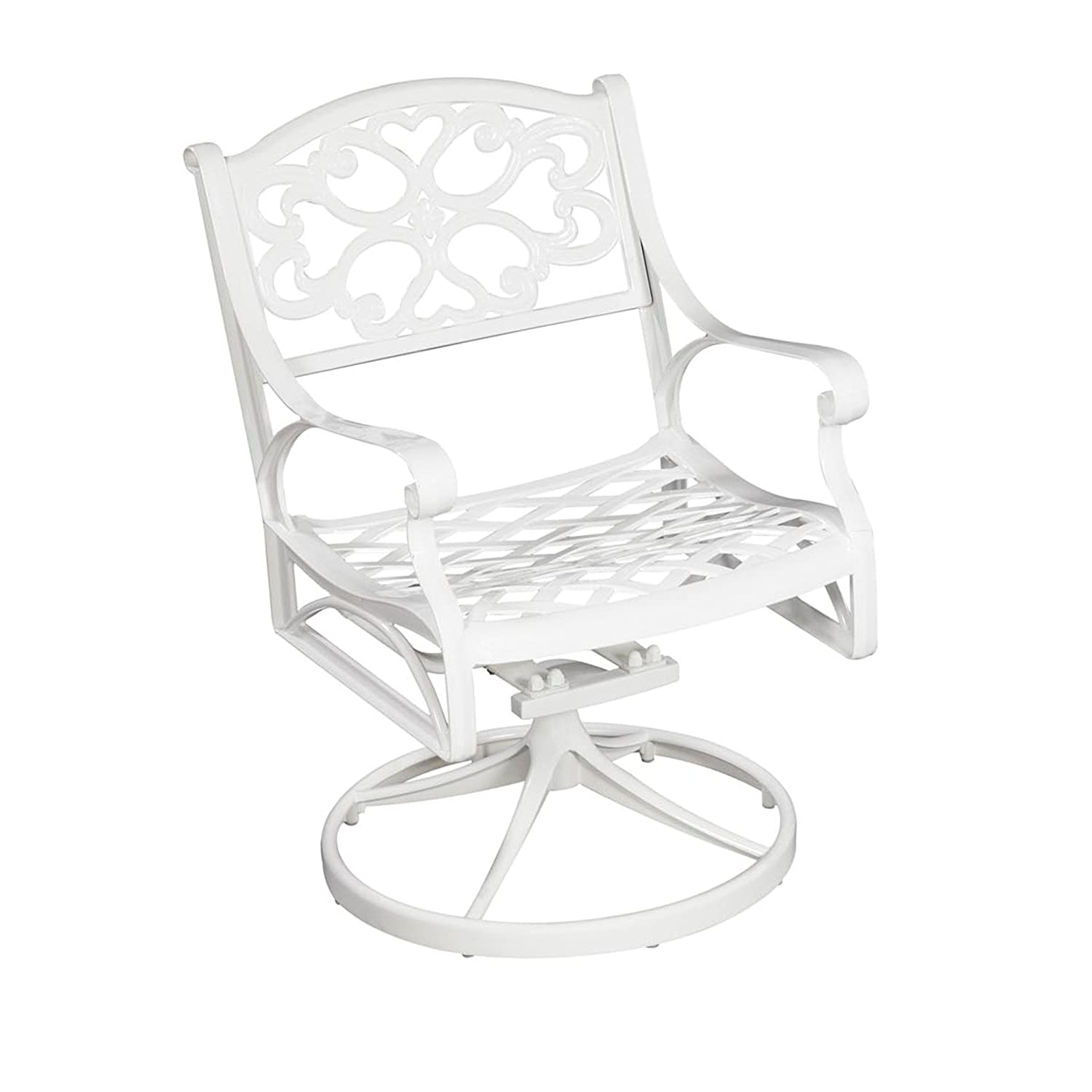Amazon Home Styles 5552 53 Biscayne Swivel Arm Chair White