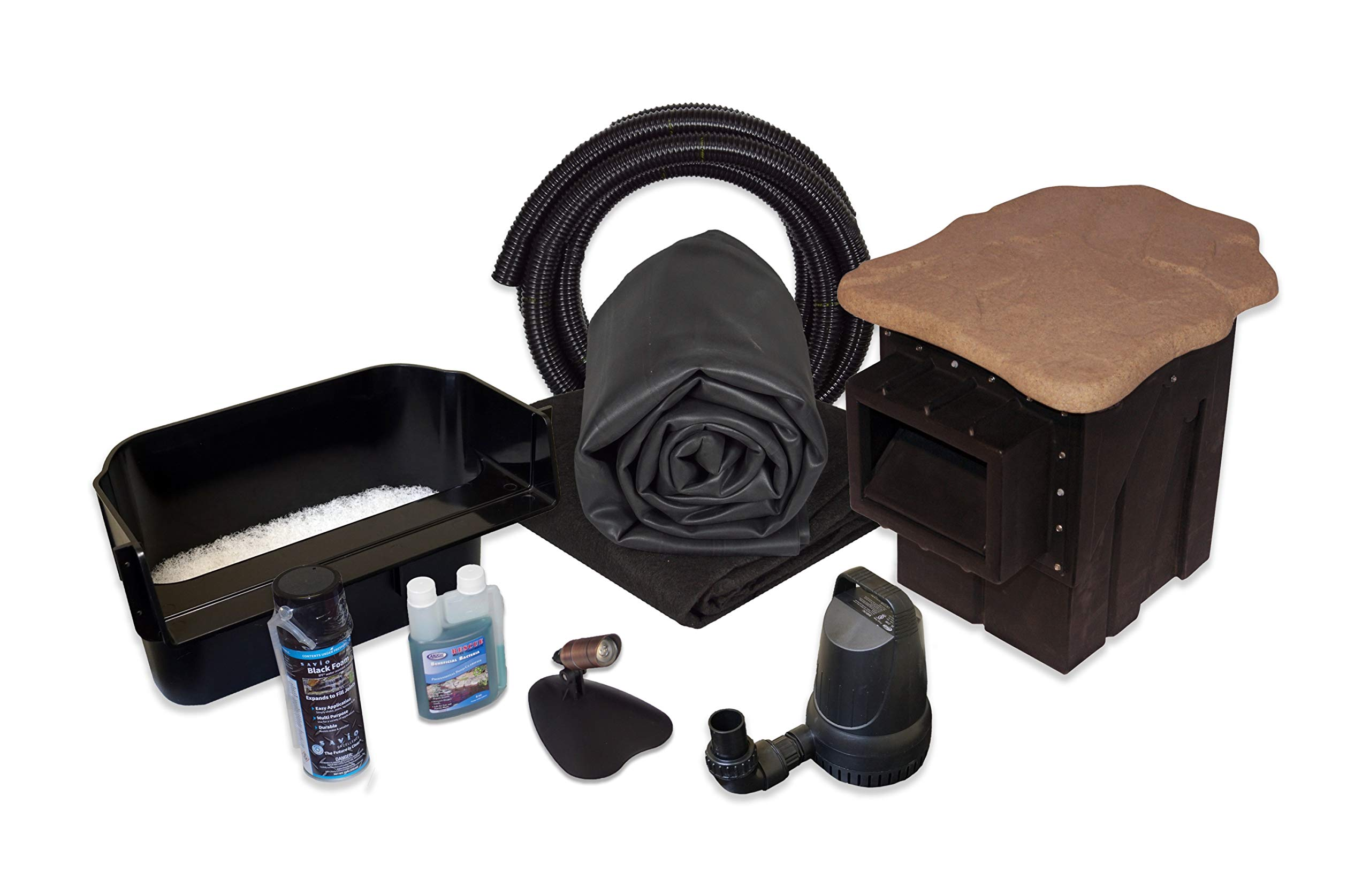 Simply Ponds 2100 Water Garden and Pond Kit with 15 Foot x 15 Foot EPDM Liner