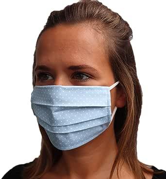 LIEVD mondneusmasker verschillende kleuren en maten I 100% OEKE-TEX katoenen mondkapjes I masker stof gezicht wasbar I 2-laags gezichtsmasker sneldrogend en herbruikbaar