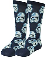 Star Wars Stormtroopers Navy Blue Long Socks Size 6-12 Black Movie Character