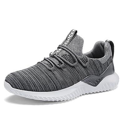 Laufschuhe Herren Sommerschuhe Turnschuhe Männer Mesh Running Fitness  Sneaker Low Top Freizeit Schuhe Bequeme Atmungsaktiv Grau 7def7f8840