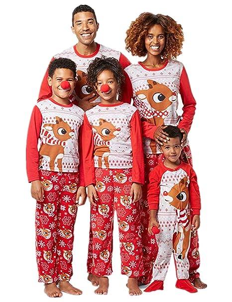 Baonmy Christmas Holiday Family Matching Sleepwear Winter Elk Pajama Sets ( Kid-100 122b9268a