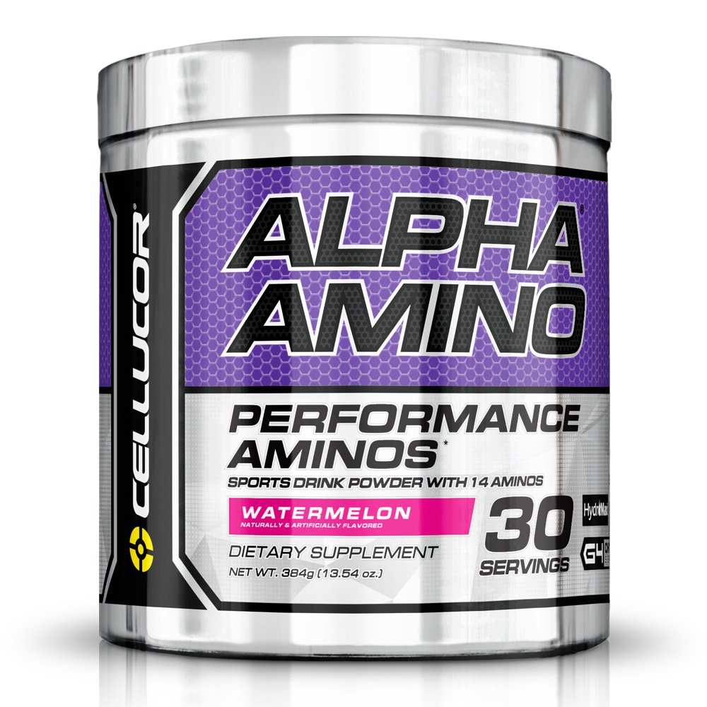 Cellucor Alpha Amino EAA & BCAA Recovery Powder, Essential & Branched Chain Amino Acids Supplement, Watermelon, 30 Servings