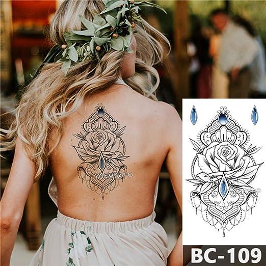 adgkitb 3pcs Tatuaje en el Pecho Temporal Impermeable joyería ...