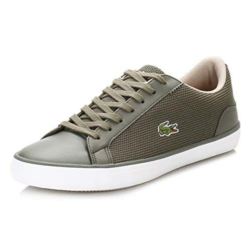 0359aa6d1f96f Lacoste Mens Mens Lerond 117 3 CAM Trainers in Khaki - UK 7  Amazon ...
