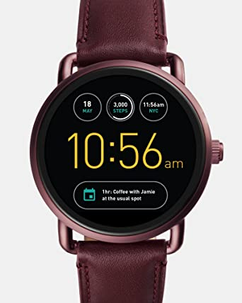 822a6920be64 Fossil Q Wander Gen 2 Wine Leather Touchscreen Smartwatch FTW2113