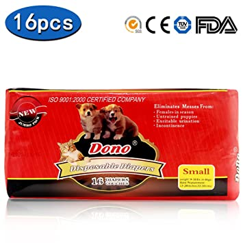 Disposable Pet Diapers for Female Dogs Super Absorbent Soft Heating and Pee Liners, Including Amazon.com :