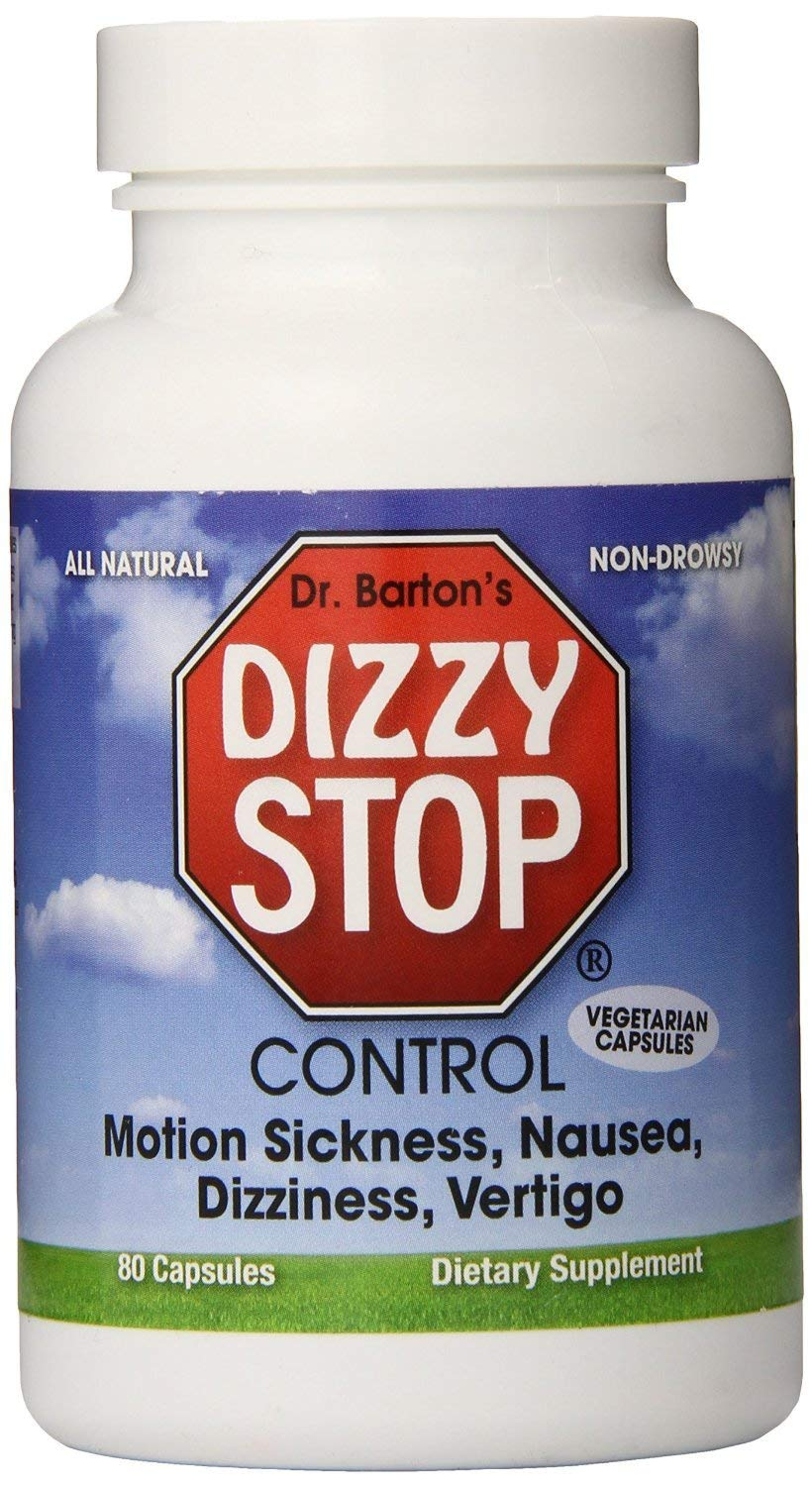 Motion Sickness, Dizziness, Vertigo, Nausea - All Natural Herbal Supplement Treatment - by Dizzy Stop by Dizzy Stop