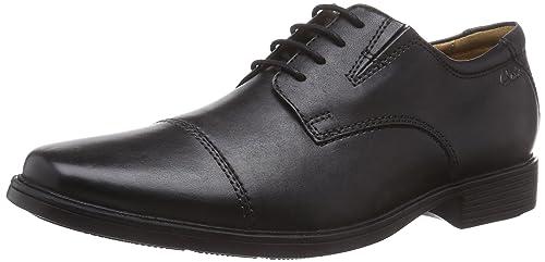 Clarks Tilden Cap - Zapatos con Cordones de Cuero Hombre, Color Marrón, Talla 44.5
