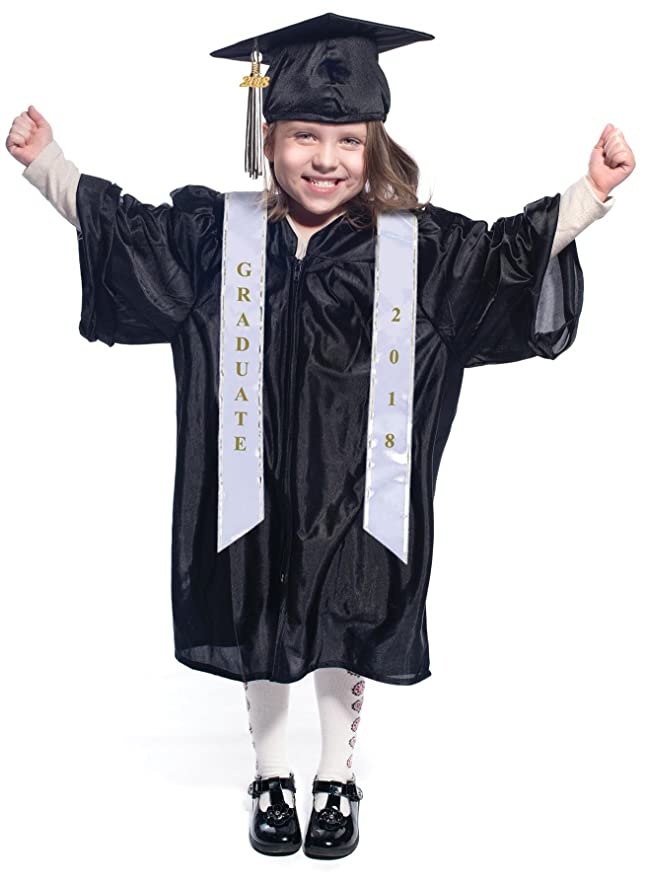 Amazon.com: Budget Graduation Children\'s Shiny Deluxe Cap and Gown ...