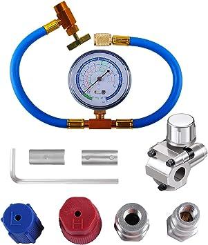 Wadoy R134a Manifold Set for A//C Car Air Conditioner Refrigerant R12 R22 R502 R134a Diagnostic Manifold Gauge Set