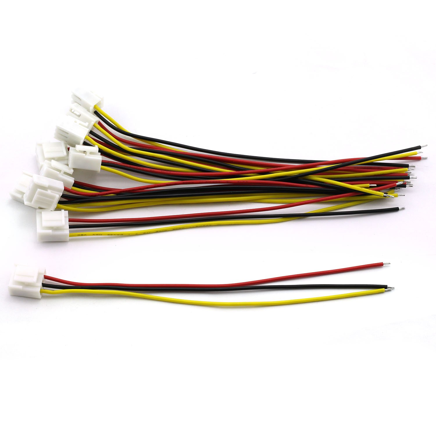Curved 3P Male Header Connector Magic/&Shell 10 Sets 3.96mm VH Plug Cable Single Head 3Pin Terminal Wire Medical Devices Wire LED Display Mainboard Electric Wire 150mm