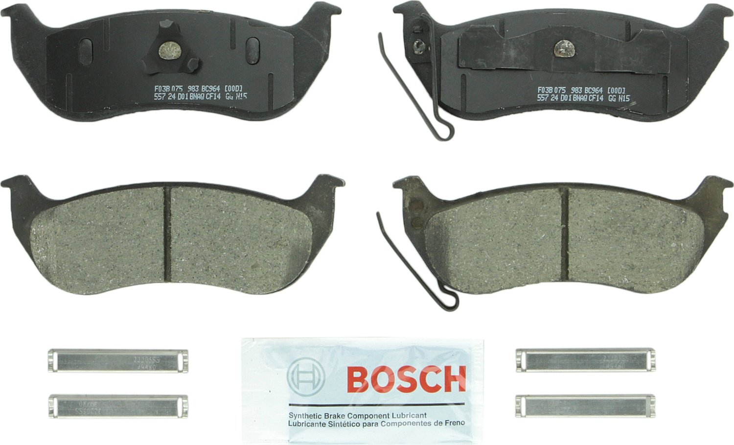 Bosch BC964 QuietCast Premium Disc Brake Pad Set