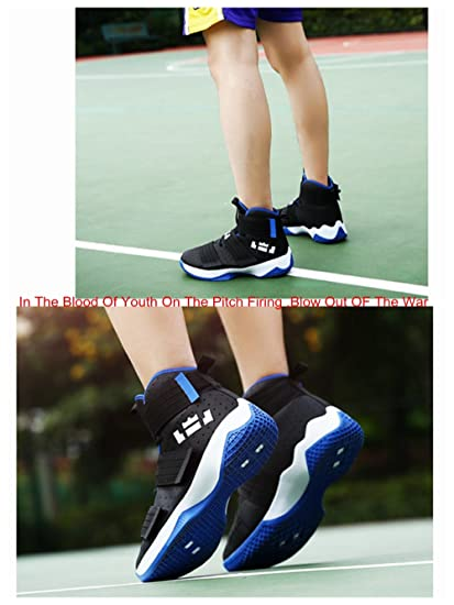 Amazon.com  Men s High Top Basketball Shoes Performance Shock Absorption  Running Shoes Velcro Sneakers  Clothing 6f8376b17